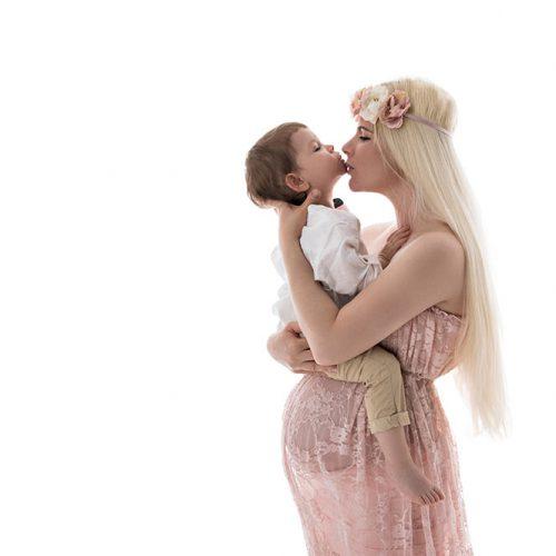 babybauch shooting mit kleinkind